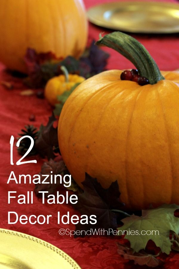 Amazing quick easy fall table decor thanksgiving