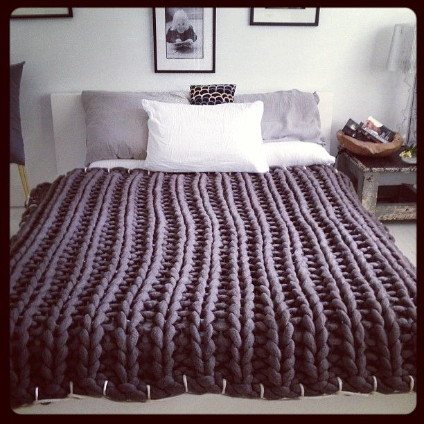 Knit or crochet a warm comforter this Winter with Tarn {T-shirt Yarn}.http://www.tarnsa.co.za/