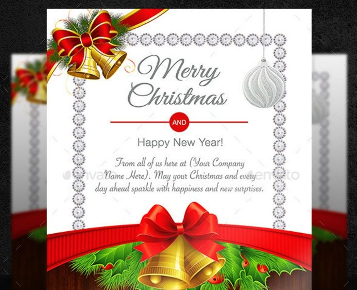 Christmas Card Template Psd Ai And Eps Templates