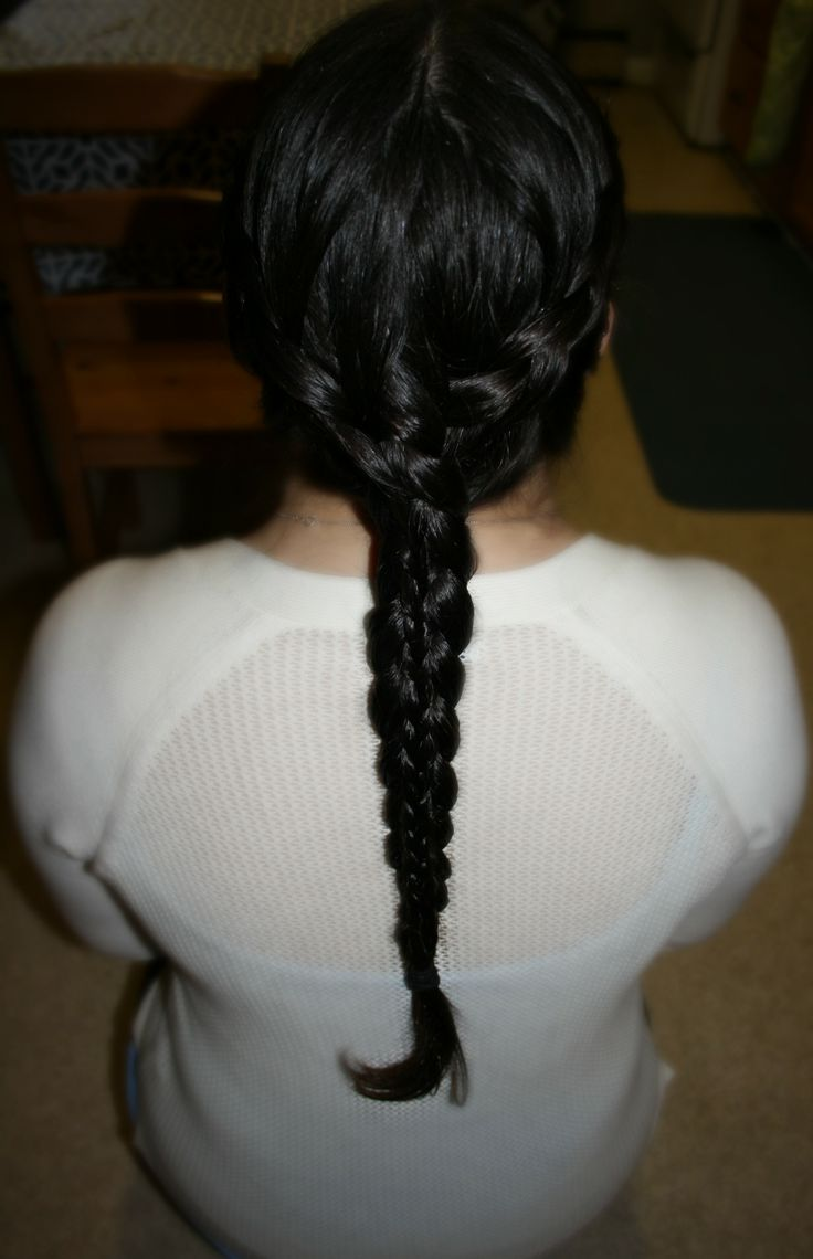 Dutch and stacked feathered dutch braid.