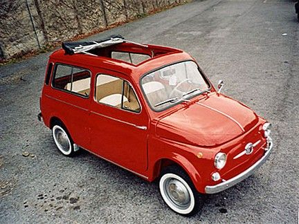Fiat 500C Giardiniera I wonder if my Airedale would fit in one of these? I think so....