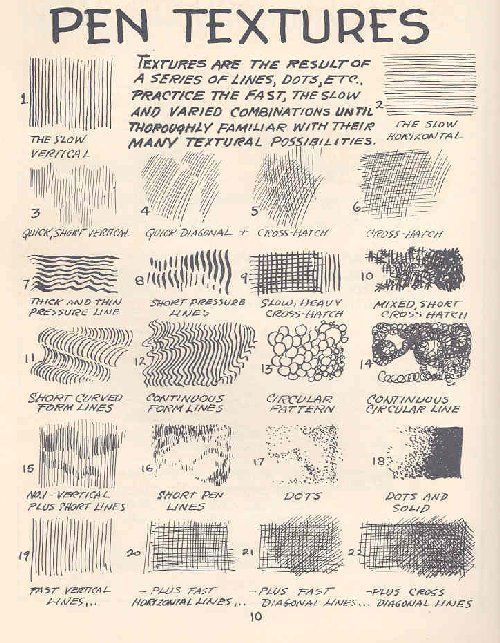 Pen ink techniques #sketch #textures #art #tutorial # ...