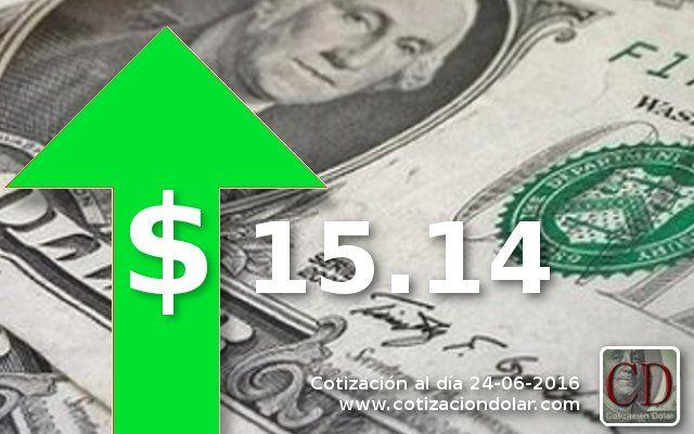 #Cotizacion ARGENTINA promedio 24-06-16 en pesos argentinos: #Dolar: 15.14 ▲ / http://www.cotizacion-dolar.com.ar/