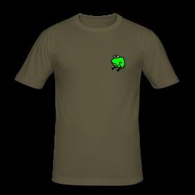 Frosch T-Shirt Männer Slim Fit T-Shirt Figurbetontes T-Shirt für Männer, 100% Baumwolle, Marke: Hanes.