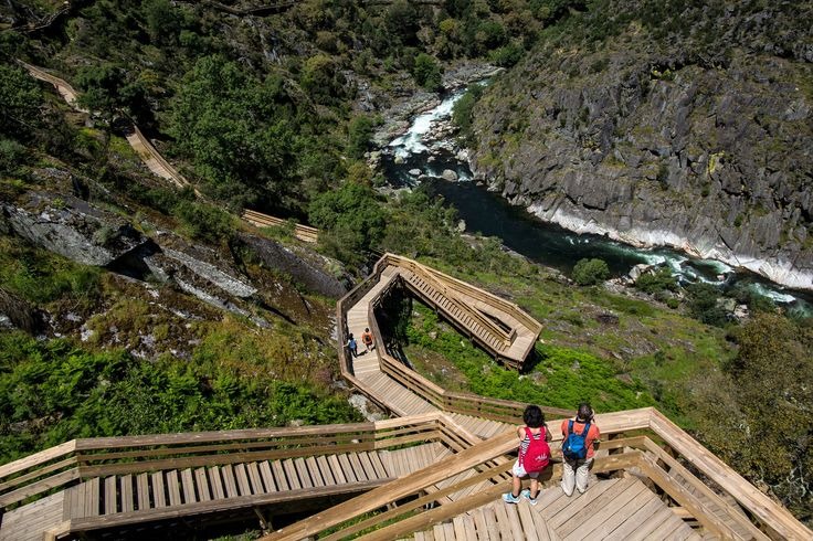 The Wooden Paiva Walkways: A Wild and Winding Stairway to a Portuguese River - via The New York Times 02-03-2017 | The Paiva Walkways, which opened in 2015 on the left bank of the Paiva River in Aveiro, Portugal, immerse you in nature. Many people consider the Paiva to be the most beautiful river in the country. Photo: The Paiva Walkways offer a stunning excursion into nature, and the photographer Daniel Rodrigues was there to capture the beauty.