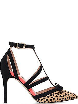 MISS KG Chyna leopard-print court shoes