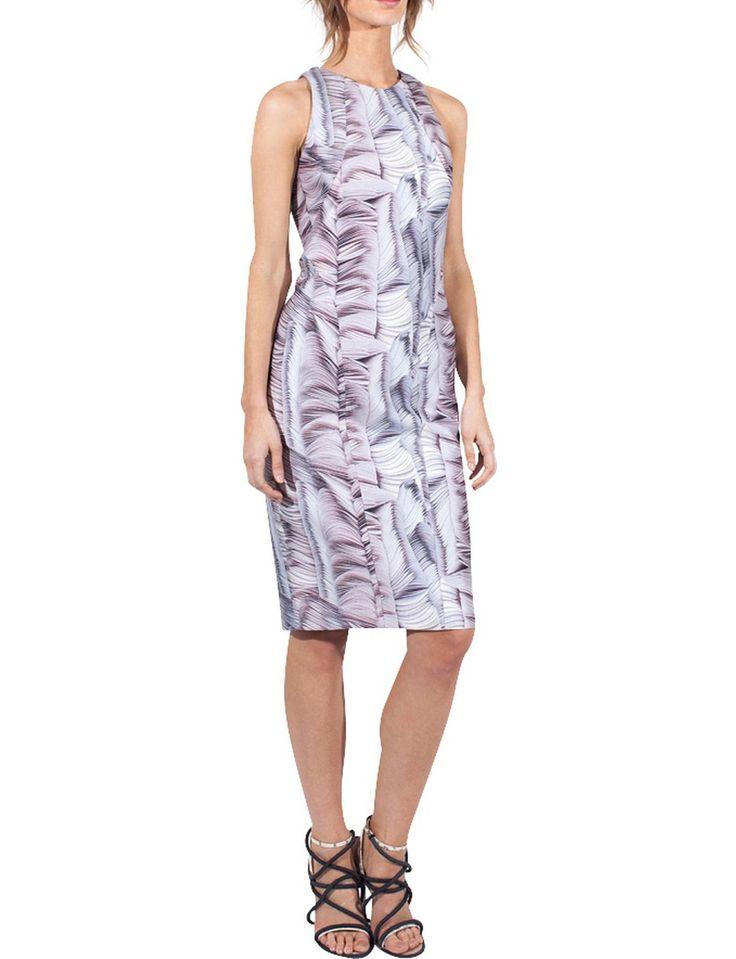Paperdisk Cotton Silk Curvalinear Dress #biancaspender #djstyle