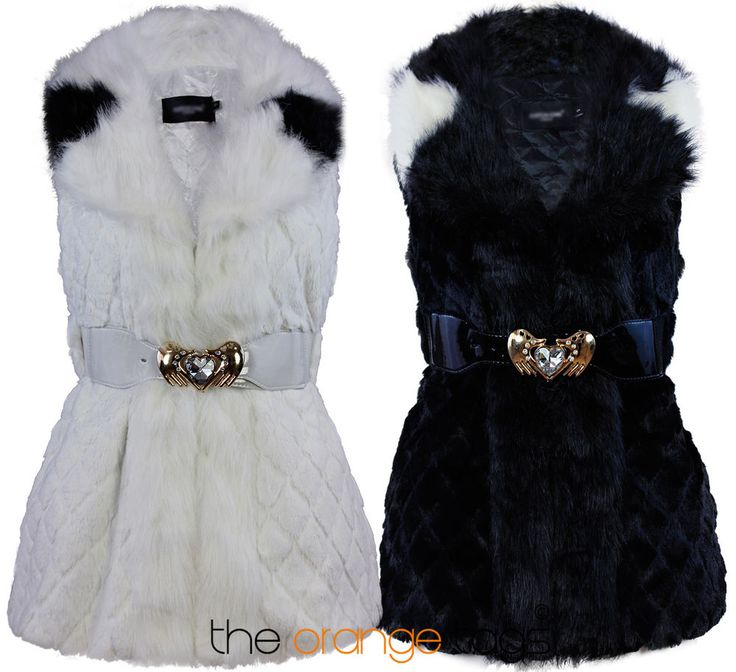 LADIES FAUX FUR GILET VEST WAISTCOAT JACKET WOMENS SLEEVELESS COAT