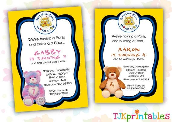 Build A Bear Invitations Printable Free Premium Invitation