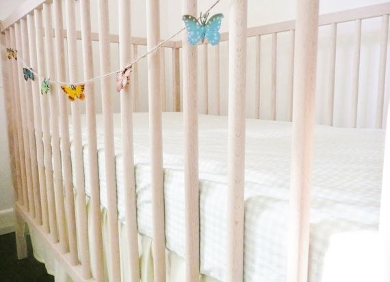 Butterfly Garland/Bunting. Baby girl nursery by LittleJarCreations