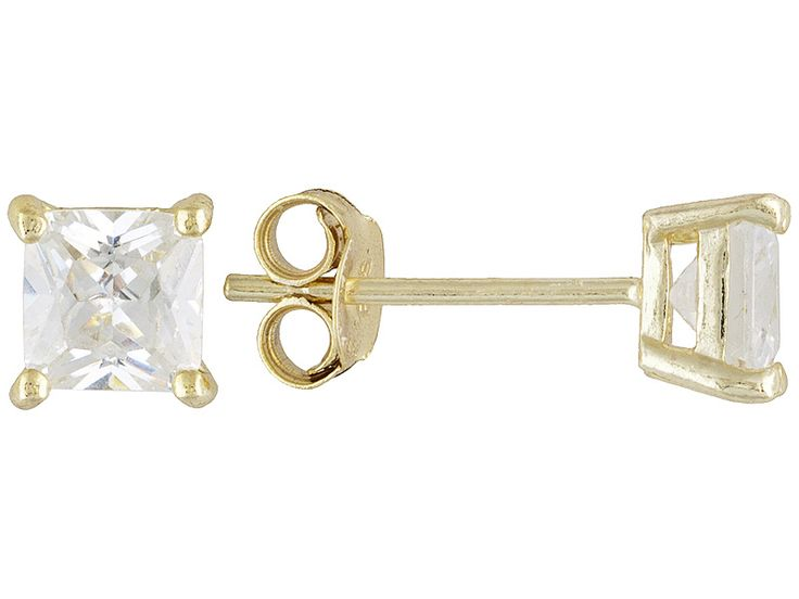 Bella Luce(R) 2.00ctw 5mm Princess Cut 18kyellow Gold Over Sterling Silver Stud Earrings