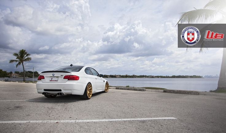 BMW M3 With Brushed Gold Wheels - http://www.bmwblog.com/2014/12/19/bmw-m3-brushed-gold-wheels/