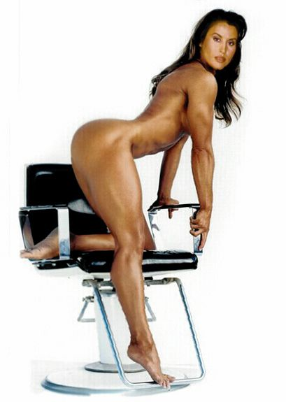 Naked female bodybuilder miss lisa posing 2
