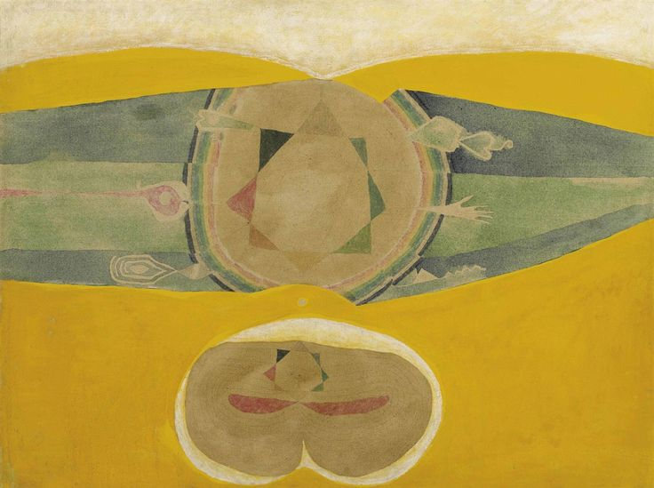 thunderstruck9:  Prabhakar Barwe (Indian, 1936-1995), Anatomy of a Mystic, 1969. Acrylic and enamel on canvas, 91.8 x 121.2 cm.