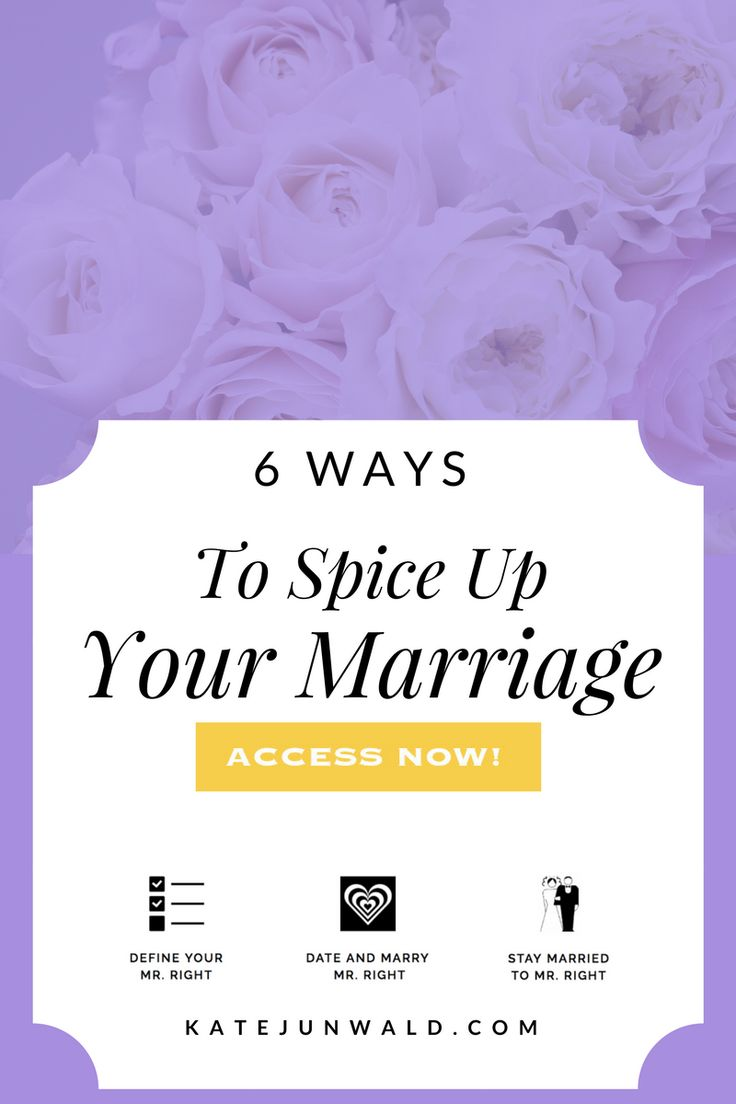 Blog post: 6 ways to spice up your marriage. Sex, marriage, marital counseling