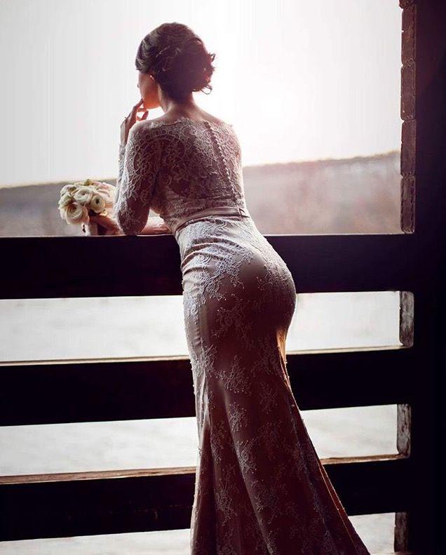Delicate like the first touch... Real bride in the wonderful dress Daniela by Tina Valerdi  #tinavalerdi #tenderness #nudeperfection #weddingdress #weddingfashion #weddingday #bride #design #collection #style #nude #manufacturer #wholesale #spain #minimalism #refinement #elegance #charming