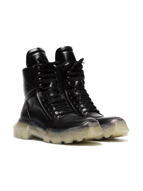 fe50074226 Rick Owens 'Tractor Dunk' Stacked Heel Boots | Walk Walk Walk in ...