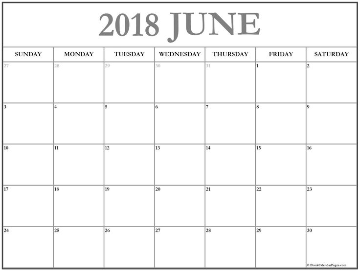 June Calendar Numbers For Preschool : Blank calendar june printable ideal vistalist