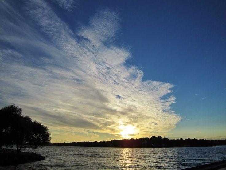 sundown by the marina at Nacka Strand