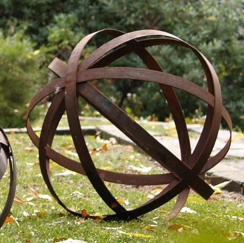 We Generally Prefer Plants For Garden Ornamentation, But A Rusted Iron  Sphere From Los Angeles Based Potted Has Us Reconsidering. Made From Bent  Steel, Rus