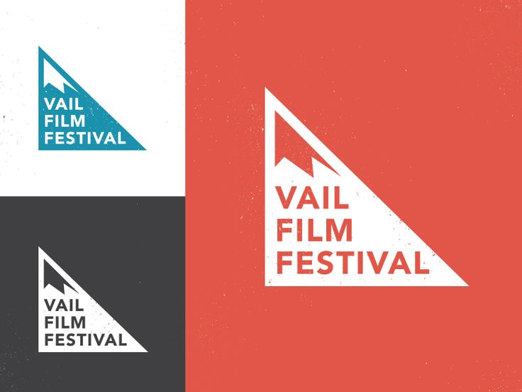 The final Vail Film Festival logo for 2015. This is a nod to the nostalgic ski icons from the 70's. Work done with  School