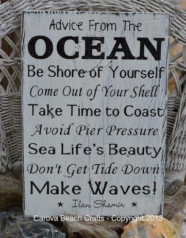 Beach Decor Beach Sign Anchor Decor Advice by CarovaBeachCrafts, $40.00