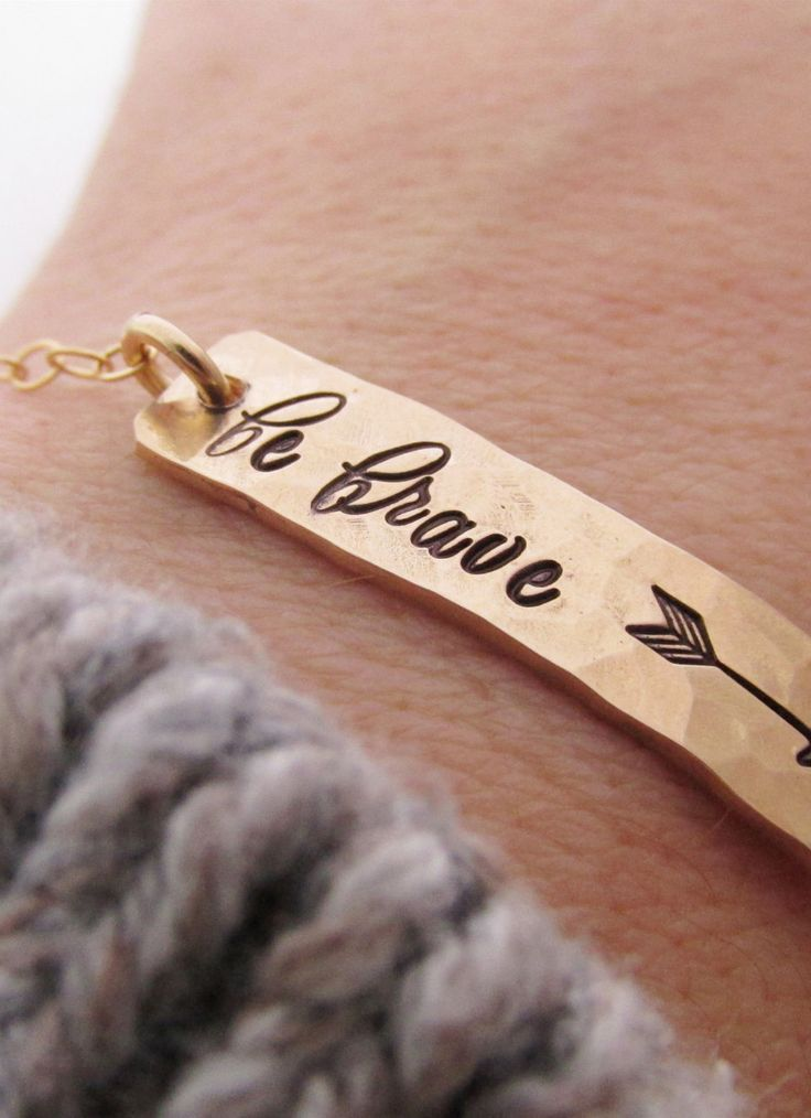 Wear this bracelet, look down, feel inspired every time.