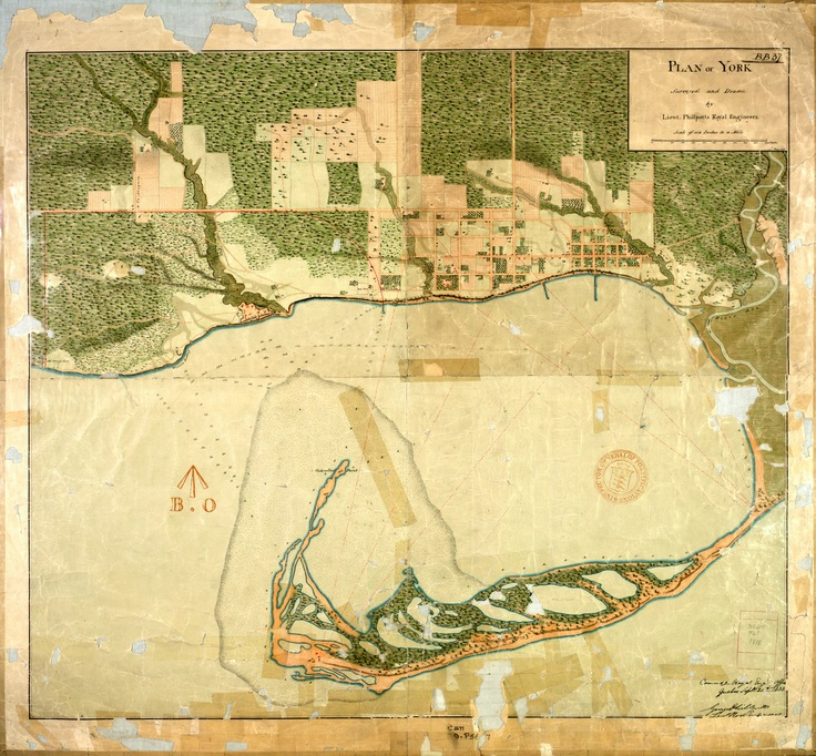 """Plan of York"" [Toronto] 1823/1906, Map & Data Library, University of Toronto Libraries"