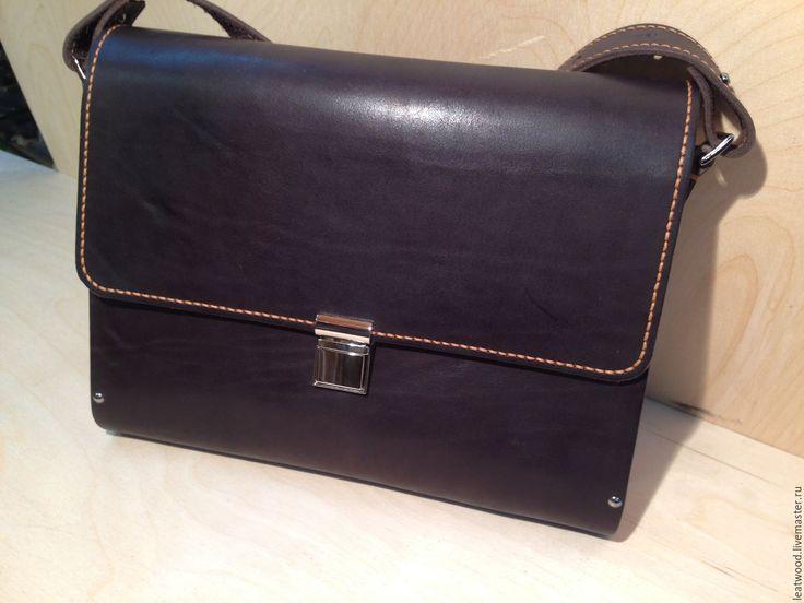 Купить мужской портфель - коричневый, портфель из кожи, портфель мужской, кожа натуральная купить