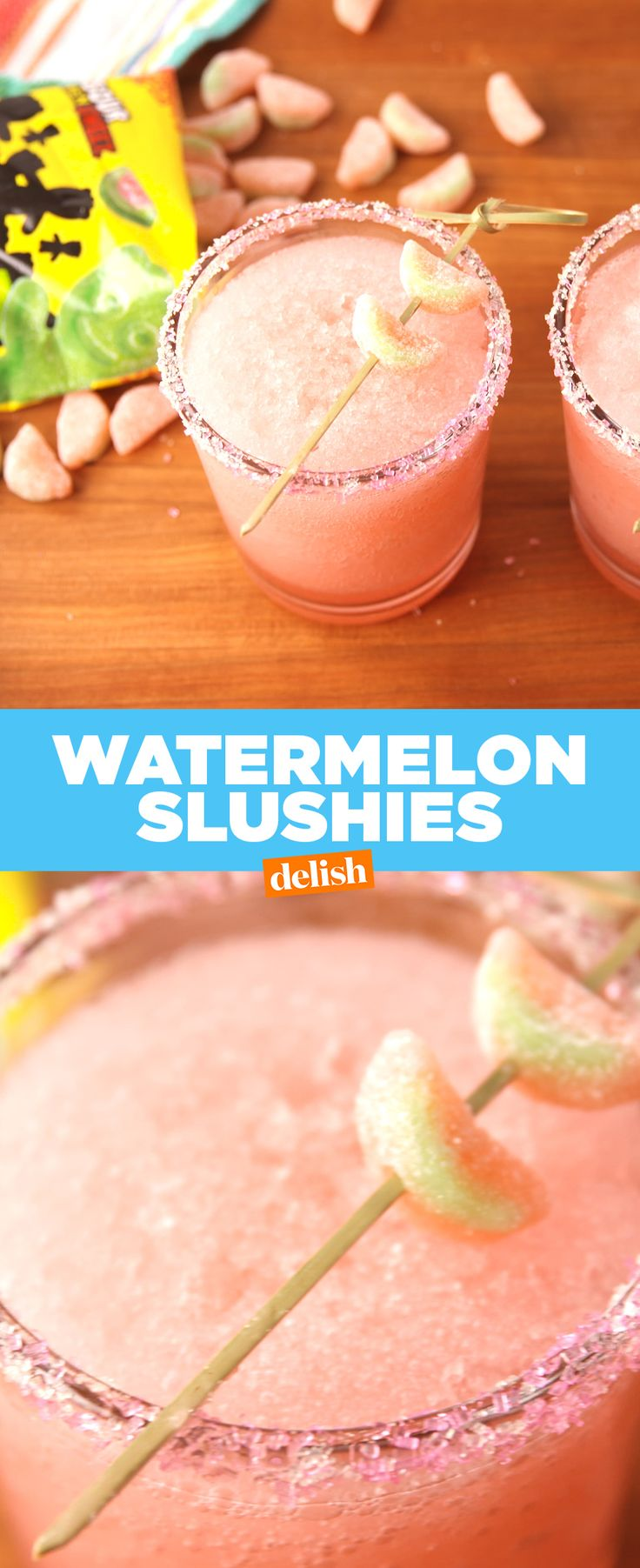 Sour Patch Watermelon fans, your favorite candy just got boozy. Get the recipe from Delish.com.