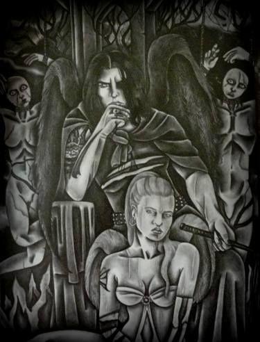 "Saatchi Art Artist Celeste Gómez; Drawing, ""LUCIFER."" #art"