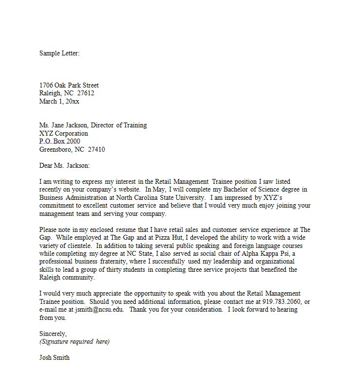 sample cover letter a great starting point for your first cover letter check out - How To Write A Cover Letter For Retail