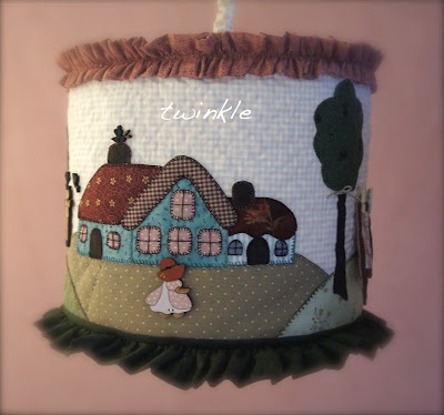 Pretty patchwork lamp