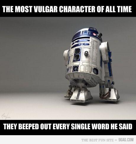 Beep beep beepuu..beepuuiu: Thoughts, Movies Character, Laughing, R2D2, Stars War, Vulgar Character, Funny Stuff, True Stories, Starwars