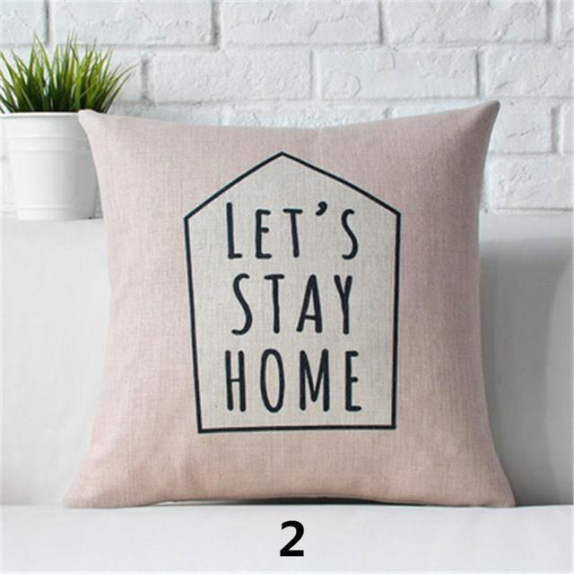 18 Inch Pillow Cover Nordic Deer Animal Quote Balloon Cushion Cover Pillowcase