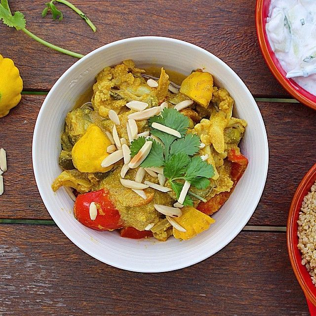 Vegetable Korma with Quinoa and Slivered Almonds from I Quit Sugar's Slow Cooker Cookbook