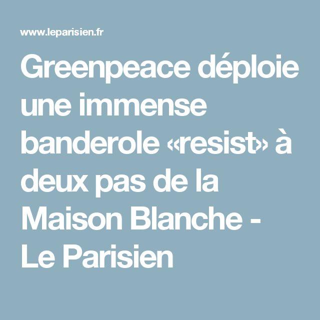 Greenpeace déploie une immense banderole «resist» à deux pas de la Maison Blanche - Le Parisien