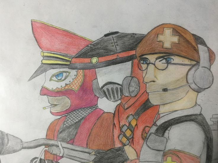 Drawing my load out (2nd art post on TF2 Reddit) #games #teamfortress2 #steam #tf2 #SteamNewRelease #gaming #Valve