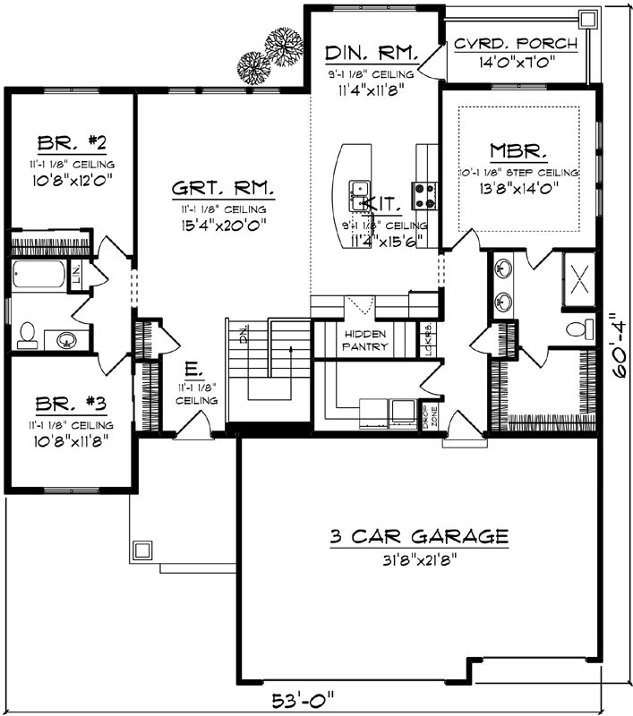 1000 ideas about floor plans on pinterest house floor for Four square house plans with garage