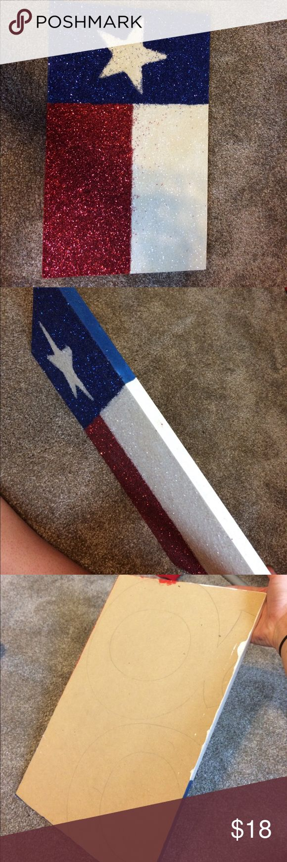 Texas wood wall decor Hand made Texas flag wood wall decor. (Wood is hand cut so not completely straight lines) Other