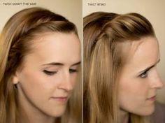 Dois modelos penteados com franja alta ou baixa