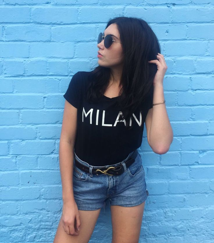 "Shown: Maia Tee ""Milan"" Shirt"
