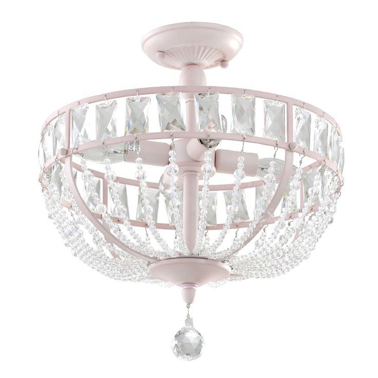 Audrey crystal chandelier in pink 4 light nursery lightingkids
