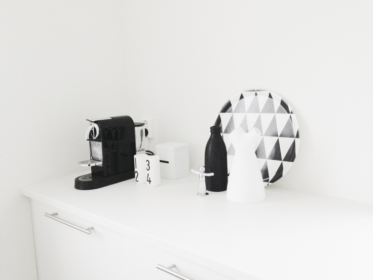 Kitchen details - Citiz, Nespresso + Plattan, Formverket + Flow jug, Muuto + Espresso cups, Designletters