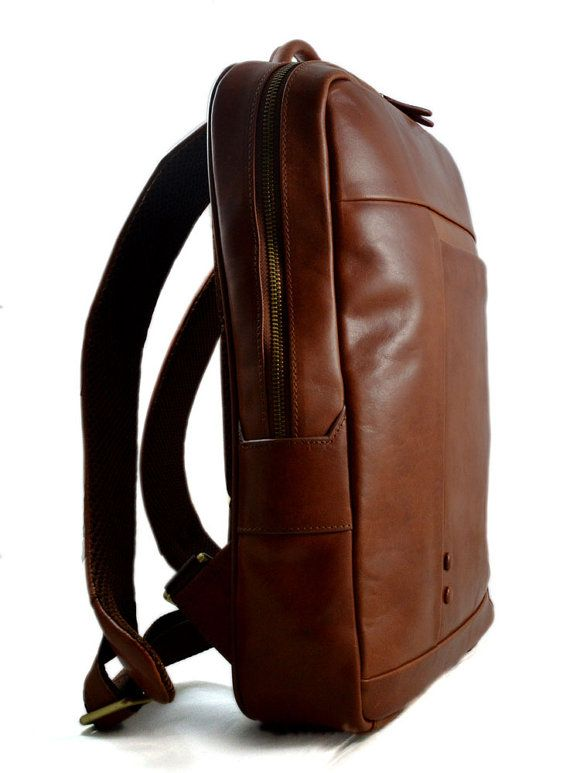 Leather backpack genuine leather travel bag weekender sports ... 700db8641560c