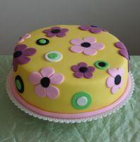 Narozeninový dort Rozkvetlá louka žlutá | Narozeninové dorty fotogalerie…
