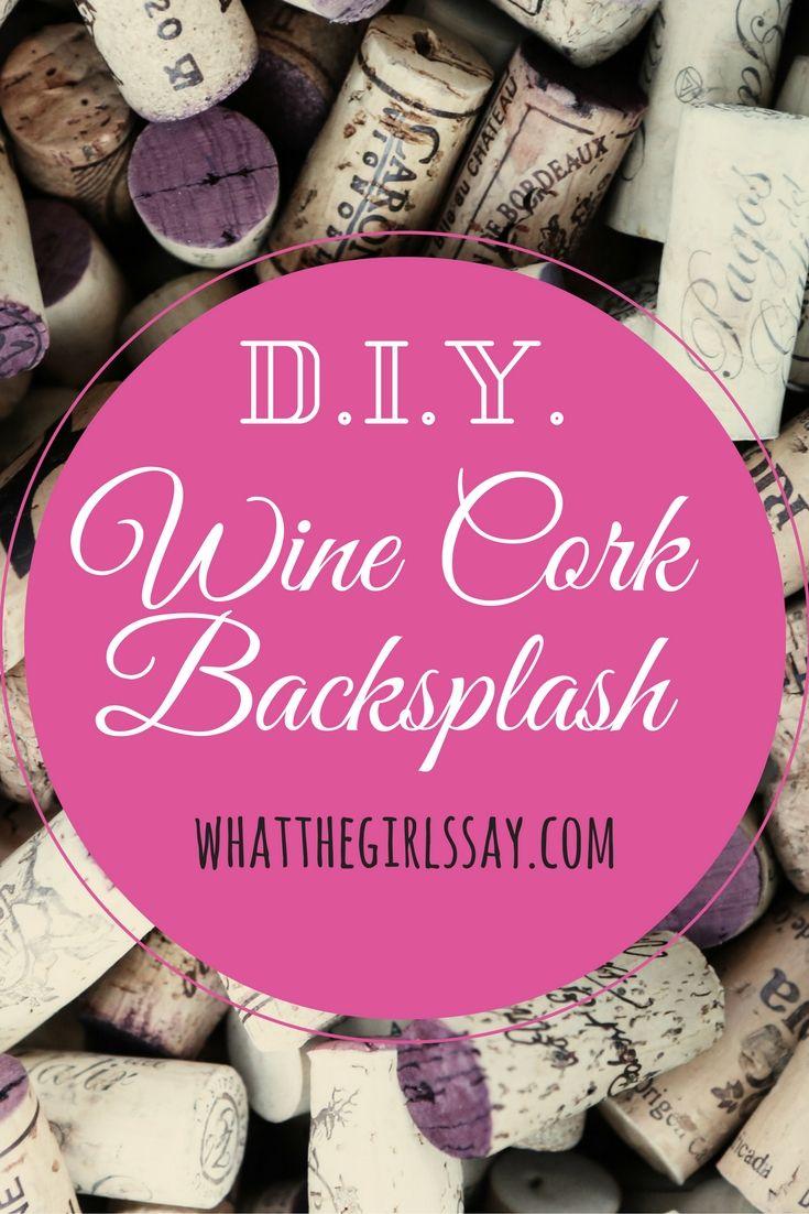 DIY Wine Cork Backsplash - whatthegirlssay.com- Pin for later! - What do you do…