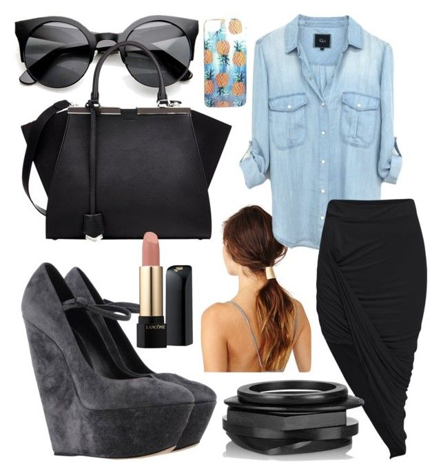 Lunch Date by briana-mason94 on Polyvore featuring Casadei, Fendi, Kenneth Jay Lane, Nikki Strange and Lancôme