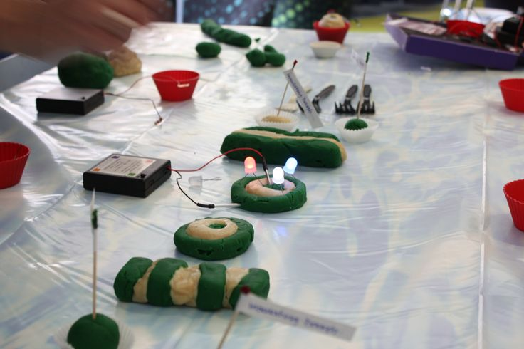 Squishy circuits made from conductive and insulating dough