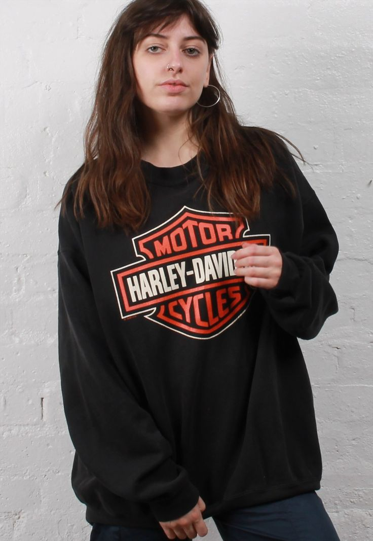 Vintage Harley Davidson Sweatshirt | Miss Fortune | ASOS Marketplace